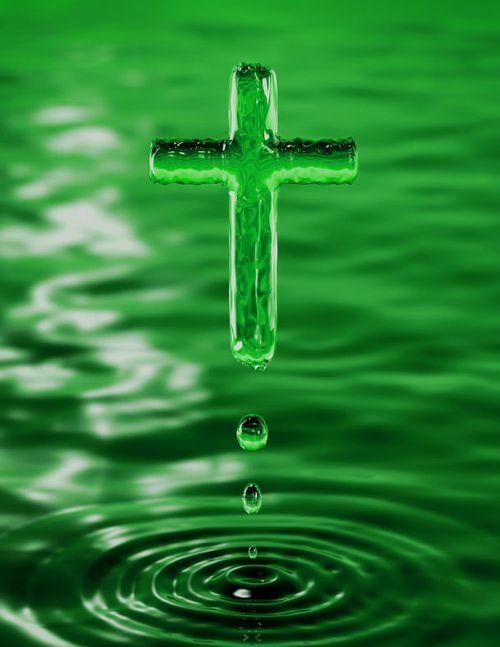 Green cross water