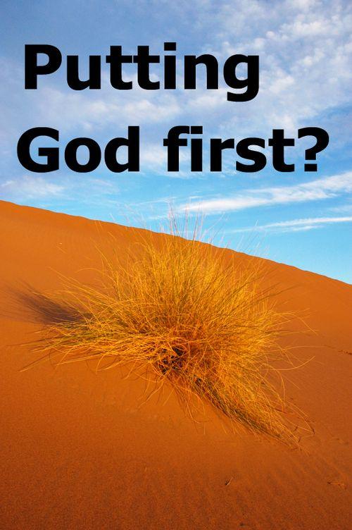 Preach plan autumn 2010 putting God first